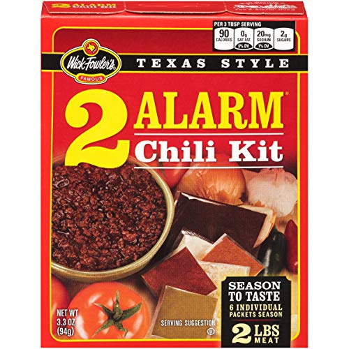 Wick Fowler 2-Alarm Chili Kit, 3.3 Ounce Box (Pack of 8)