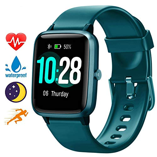 Blackview Smart Watch for Android Phones and iOS Phones, All-Day Activity Tracker with Heart Rate Sleep Monitor, 1.3' Full Touch Screen, 5ATM Waterproof Pedometer, Smartwatch for Men Women