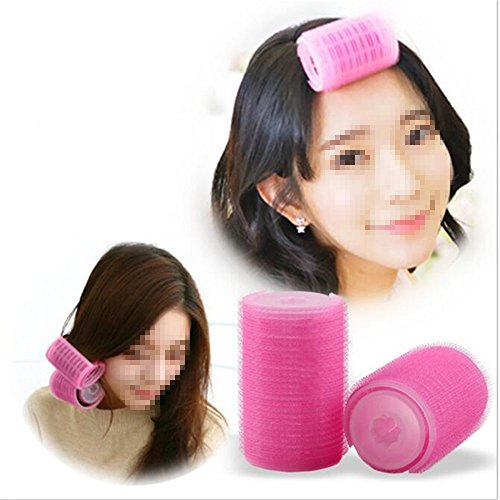 2Pcs/Set Plastic Hair Rollers Curlers Bangs Self-Adhesive Hair Volume Hair Curling Styling Tools Magic Women DIY Makeup Tools S