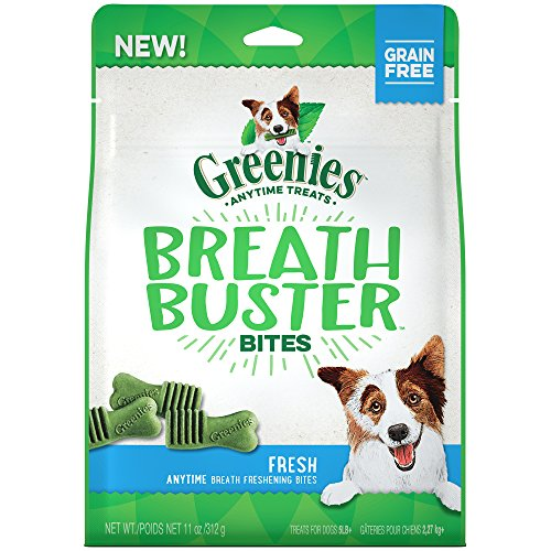 GREENIES BREATH BUSTER Bites Chicken & Parsley Flavor Treats for Dogs 11 Ounces
