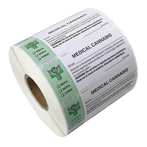 FirstZi 1 Roll 2.6'x1' Universal Compliant Medical Identification Labels, 1000 Stickers