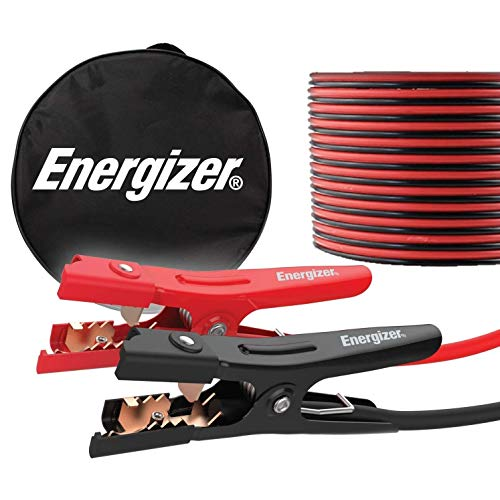 Energizer Jumper Cables, 20 Feet, 4 Gauge, Heavy Duty Booster Jump Start Cable, Carrying Bag Included - UL Listed