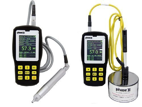 Phase II+ PHT-6005 Ultrasonic Portable Hardness Tester w/5kg. Probe(manual) For surfaces with Ra below 400?in