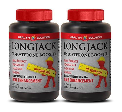 Male Enhancing Pills Increase Size and Length - LONGJACK Size UP (All Natural Formula) - Tongkat ali and maca - 2 Bottles 120 Capsules