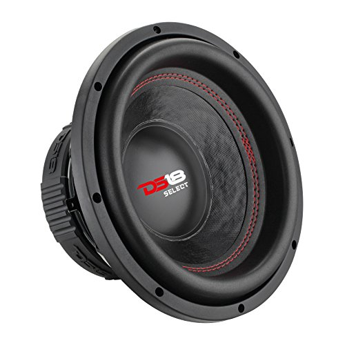 DS18 SLC12S Car Subwoofer Audio Speaker - 12' in. Paper Glass Fiber Cone, Black Steel Basket, Single Voice Coil 4 Ohm Impedance, 500W MAX Power and Foam Surround for Vehicle Stereo Sound System