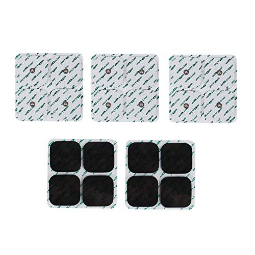 FITOP TENS Replacement Pads 20pcs Universal 3.5mm Snap Electrodes Size 2x2