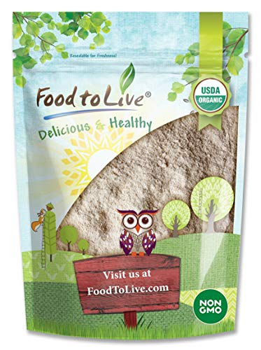 Organic Barley Flour, 4 Pounds - Stone Ground from Whole Hulled Barley, Non-GMO, Raw, Vegan, Bulk, Great for Baking, Product of the USA