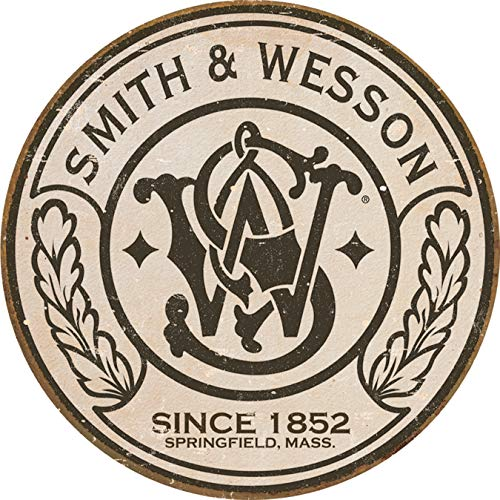 Desperate Enterprises Smith & Wesson - Round Tin Sign, 11.75' Diameter
