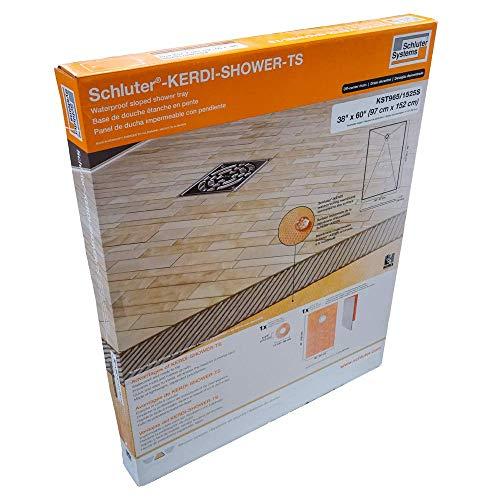 Schluter Kerdi 38' x 60' Shower Tray Off-Center Drain Placement 1-1/2' Perimeter Height