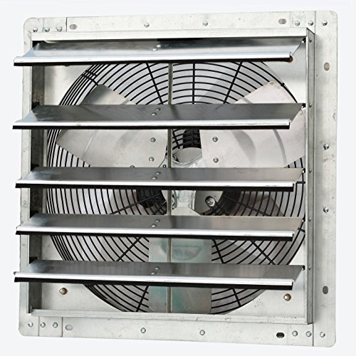 Iliving 18 Inch Variable Speed Shutter Exhaust Fan, Wall-Mounted, 18'