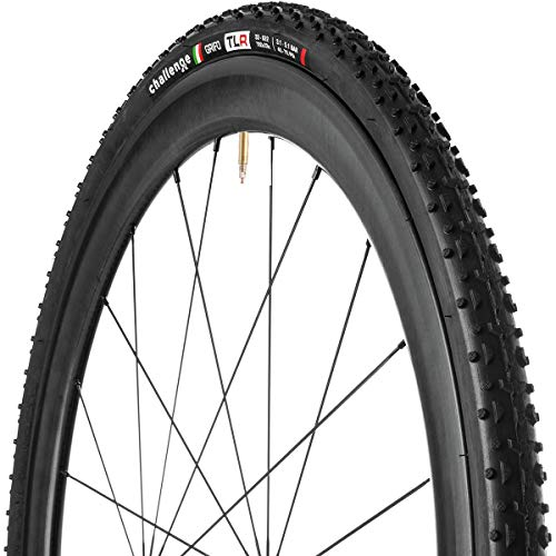 Challenge GRIFO Tubeless Black Nylon Superlight 33 Unisex Adult Bicycle Tyre, 700 x 33C