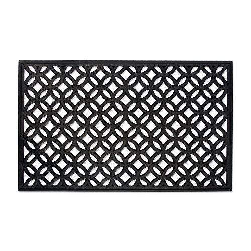 DII Indoor Outdoor Rubber Easy Clean Entry Way Welcome Doormat, Floor Mat, Rug For Patio, Front Door, All Weather Exterior Doors, 18 x 30' - Lattice