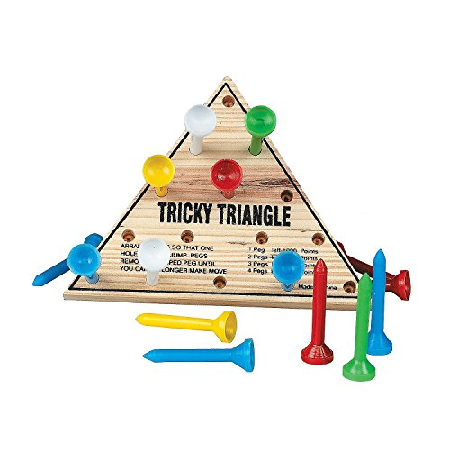 Fun Express Wooden Tricky Triangle Peg Game (1 Pack)