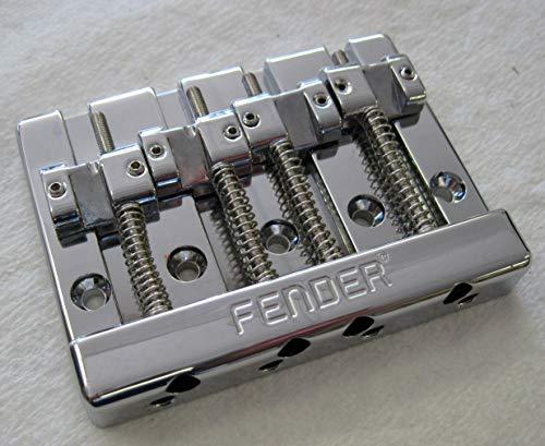 Fender HiMass 4-String Bass Bridge Assembly with Zinc Saddles - Chrome