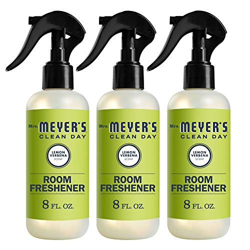 Mrs. Meyer's Clean Day Room Freshener Spray, Instantly Freshens the Air with Lemon Verbena Scent, 8 oz- Pack of 3