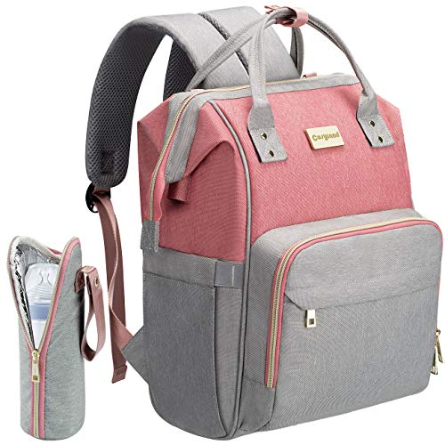 Cosyland Diaper Bag Backpack Nappy Maternity Backpack for Mom with USB charge (Pink)