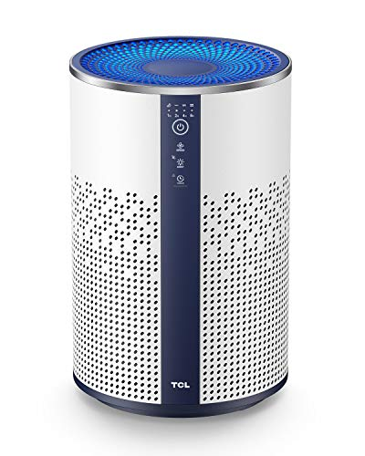 TCL Air Purifier for Home Smoke True HEPA H13 Filter, Air Filter Captures Smoke Dust Hair Pet Dander Odor, 20dB Quiet Sleep in Bedroom Kitchen Bathroom with Night Light Child Lock, BREEVA A1 (Available for California)
