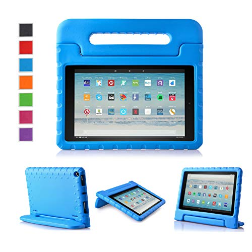 LTROP All-New Fire HD 10 Case - Shock Proof Fire HD 10 Tablet Case for Kids (7th Generation and 9th Generation, 2017 and 2019 Release) - Blue