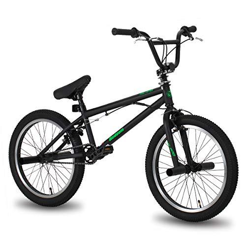 Hiland 20 Inch Kids BMX Bike for Boys Girls Teenager Freestyle Bicycle Black