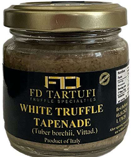 FD TARTUFI White Truffle Tapenade 80g (2.82oz) - (Tuber Borchii) Gourmet Food Sauce | Condiments | non gmo | Made in Italy | Mushrooms | Truffles | Kosher
