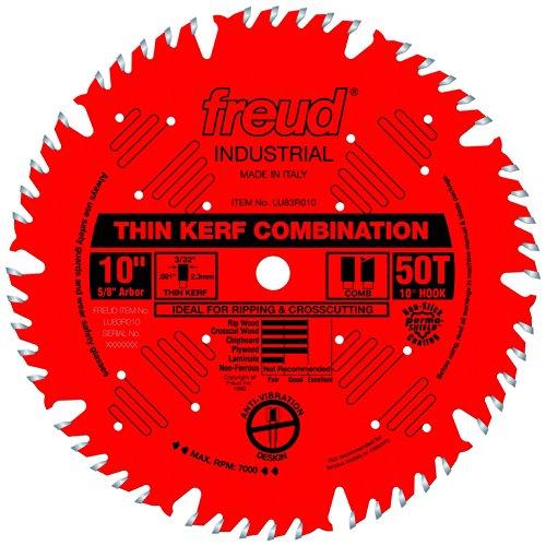 Freud 10' x 50T Thin Kerf Combination Blade (LU83R010)