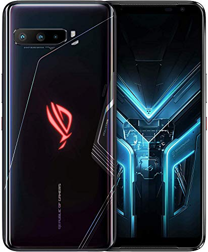 "ASUS ROG Gaming Phone 3-6.59"" FHD+ 2340x1080 HDR 144Hz Display - 6000mAh Battery - 64MP/13MP/5MP Triple Camera with 24MP Front Camera - 512GB Storage - 5G LTE Unlocked Dual SIM Cell Phone (16GB)"
