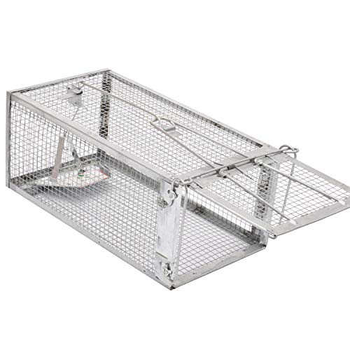 Kensizer Animal Humane Live Large Cage Trap That Work for Rat Mouse Chipmunk Mice Voles Hamsters Possum and Other Rodents, Trampa para Ratones, Catch and Release