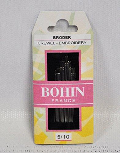 Bohin Embroidery Crewel Needles Assorted Sizes 5/10
