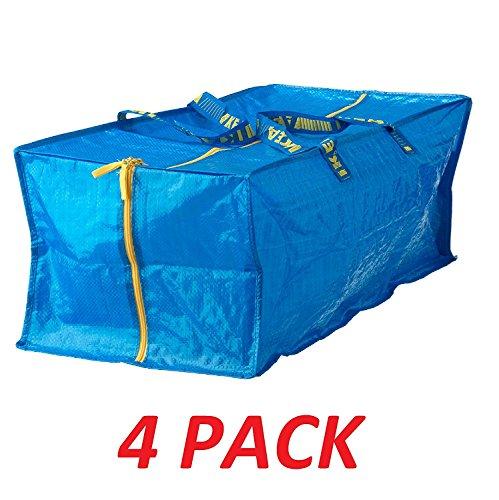 Ikea 901.491.48 Frakta Storage Bag, Blue, 4 Pack