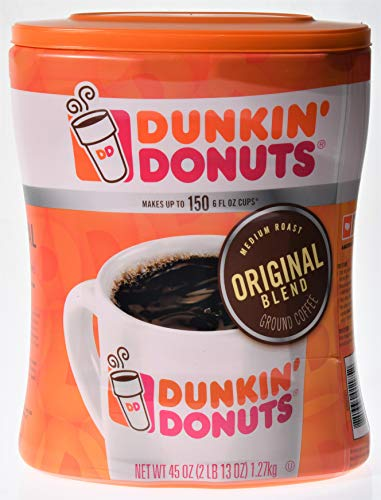 Dunkin' Donuts Original Ground Coffee, 45 oz - Makes up to 150 6 fl oz cups