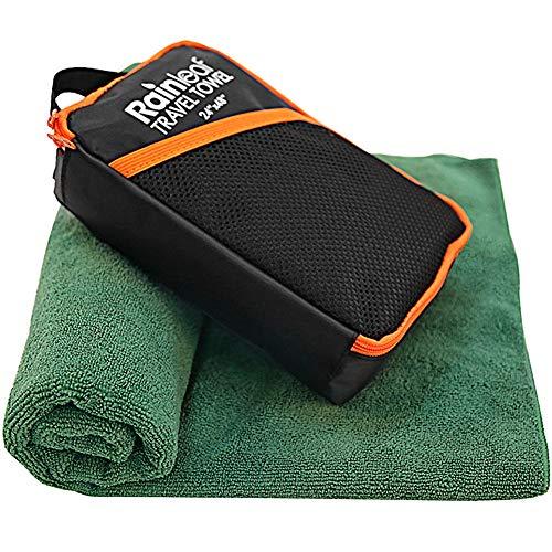Rainleaf Travel Towel,Perfect Dry Towel,Microfiber Bath Towel,Swimming Towel,Backpacking Towel,Dark Green 24'x48'