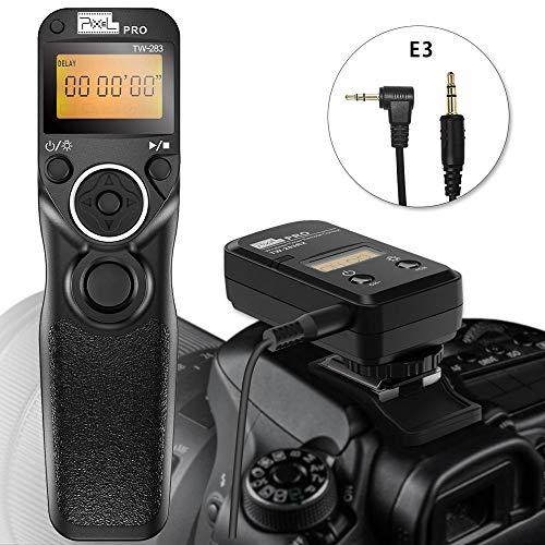 Pixel TW-283 E3 Wireless Shutter Release Cord Wired Remote Control Cable for Canon Eos 2000D 1300D 1100D 760D 700D 650D 550D 450D Fujifilm X-T3 X-H1 GFX-50R