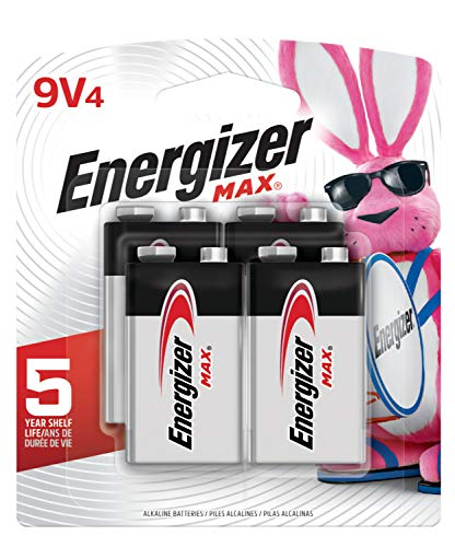 Energizer Max 9V Batteries, Premium Alkaline 9 Volt Batteries (4 Battery Count) - Packaging May Vary