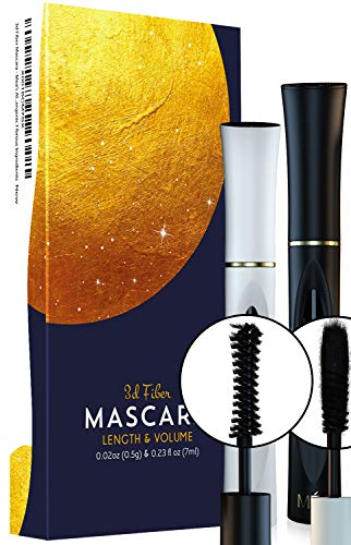 Ma 3D Mascara Natural Fiber Lash with Enhancing Gel a 2 Kit Combo that Magnifies, Lengthens and Volumizes You into a Covergirl  Hypoallergenic Cruelty Free Formula Smudge&Sweat proof (4d, Mascara)