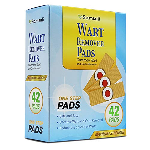 Samsali Wart Remover Pads, Highly Potent Wart Removal Treatment, All New Premium High Efficacy Wart Remover Pads, 42 Wart Remover Pads