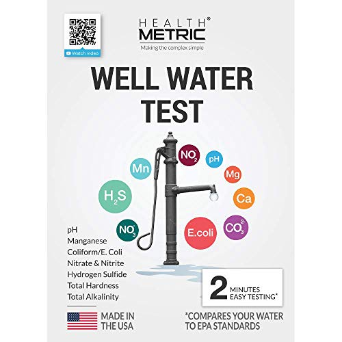 Well Water Test Kit for Drinking Water - Quick and Easy Home Water Testing Kit for Bacteria Nitrate Nitrite pH Manganese & More | Made in The USA in Line with EPA Limits [NO MAILING Required]