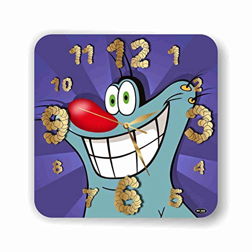 ART TIME PRODUCTION Oggy and The Cockroaches 11'' Handmade Wall Clock - Get Unique décor for Home or Office – Best Gift Ideas for Kids, Friends, Parents and Your Soul Mates