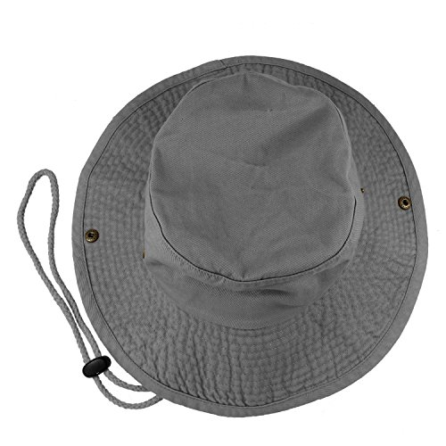 Gelante 100% Cotton Stone-Washed Safari Booney Sun Hats 1910-Grey-L/XL