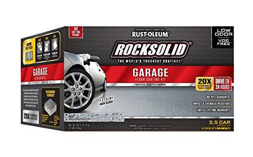 Rust-Oleum 293513 RockSolid Polycuramine 2.5 Car Garage Floor Kit, Tan