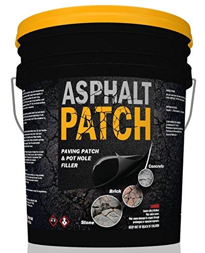ASPHALT PATCH & POTHOLE FILLER 56 lb Pail | Pothole Repair Kit | Driveway Patch | Paving Patch - 5 Gallon Pail