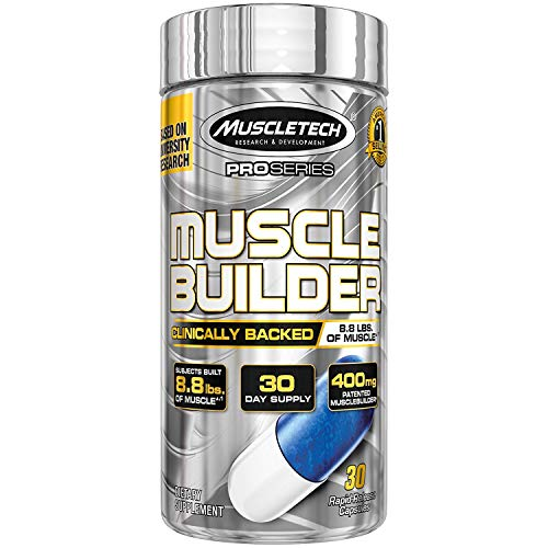 MuscleTech Muscle Builder Supplement with Peak ATP, Improved Muscle Building & Performance, 30 Servings (30 Capsules)