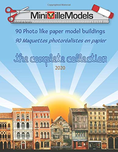 MiniVilleModels, 90 Photo like paper model buildings (The complete collection)