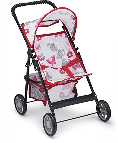 Litti Pritti Baby Doll Stroller for Toddlers - Baby Stroller for Dolls with Basket