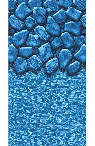 Smartline Boulder Swirl 24' Round Above-Ground Swimming Pool Overlap Liner | 20 Gauge | 48' / 52' Wall Height (24' Round)