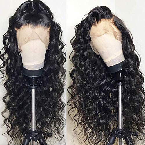 Brazilian Virgin Hair Loose Wave Full Lace Human Hair Wigs For Black Women Pre Plucked Bleached Knots With Baby Hair Lace Front Human Hair Wigs 24 Inch