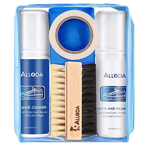 Alloda Shoe Cleaner+Shoe Whitener, Sneaker Cleaner, Brush-Shoe Cleaning Kit, (Clear)