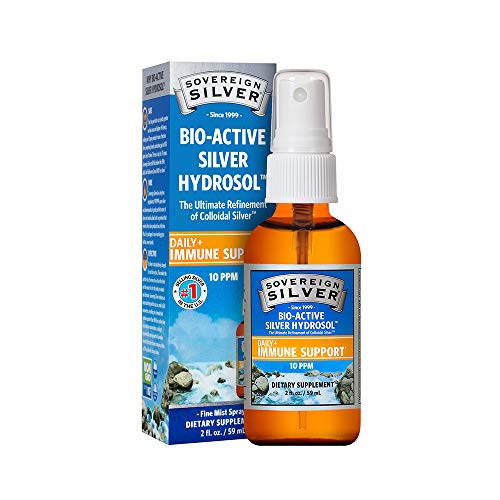 Sovereign Silver Bio-Active Silver Hydrosol for Immune Support - 10 ppm, 2oz (59mL) - Fine Mist Spray