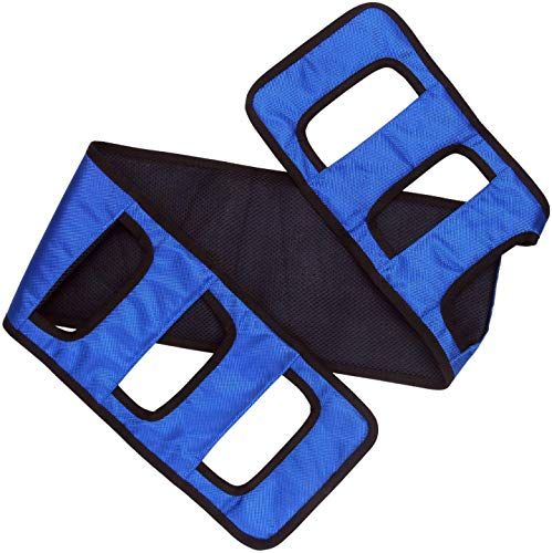 Transfer Sling Gait Belt Patient Lift Transferring Turning Handicap Bariatric Patient Patient Care Safety Mobility Aids Equipment (Blue)