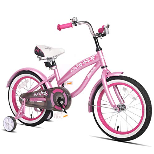 JOYSTAR 16' Kids Cruiser Bike with Training Wheels for Ages 2-6 Years Old Girls & Boys, Toddler Kids Bicycle