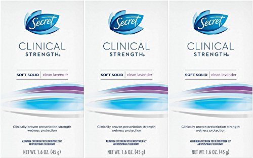 Secret Clinical Strength Antiperspirant Deodorant Solid, Ooh-la-la Lavender 1.60 oz (Pack of 3)